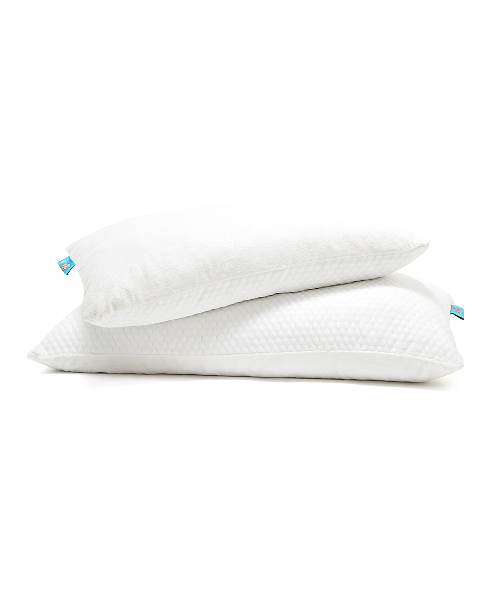 Firm Memory Foam Pillow Sleepcoco Firm Memory Foam Pillow Set Of Two