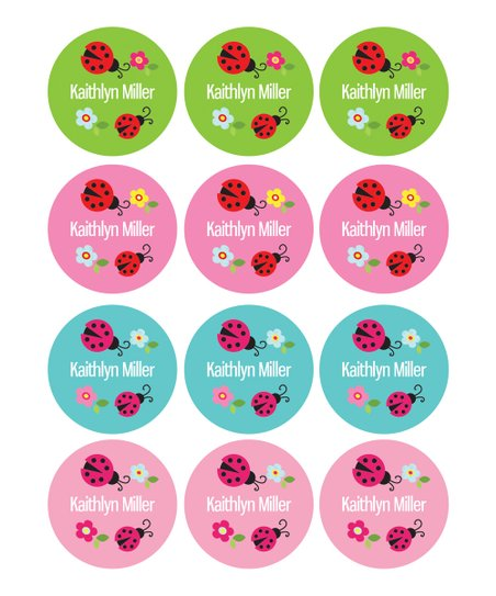 Spark  Spark Sweet Ladybug Waterproof Personalized Labels - Set of 48