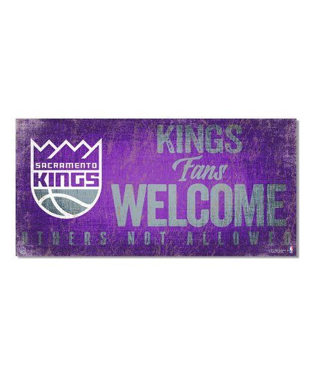 Fan Creations Sacramento Kings Fans Welcome Wall Sign Zulily