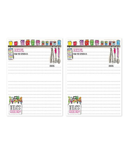 RosanneBECK Kitchen Shelf Whats Cooking? Double 10-Ct Recipe-Card