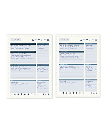 The Perfect Notebook 40-Ct Daily Task Manager Sheets - Set of Two