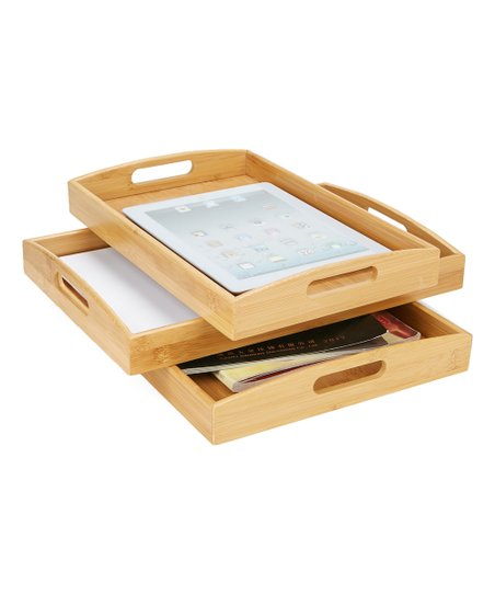 Mind Reader Brown Giver Nesting Serving Tray Set Zulily
