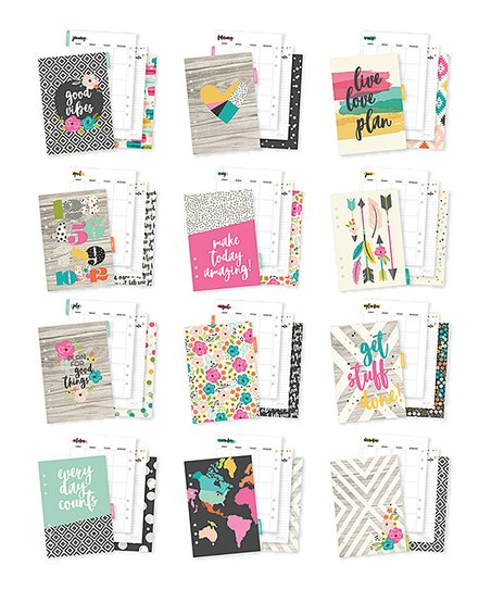 Simple Stories Good Vibes A5 Monthly Planner Insert Zulily