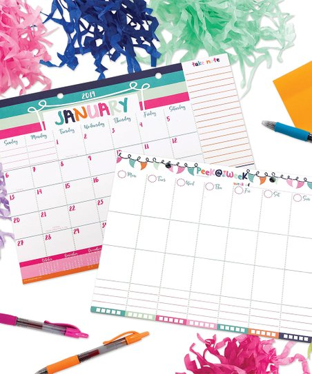 Reminder Binder® Sherbet Summer Weekly Planner  18-Month 2019 Mini