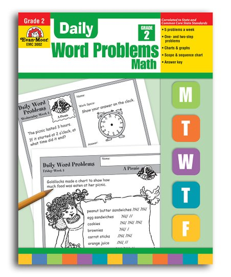 Evan-Moor Educational Publishers Grade 2 Daily Word Problems
