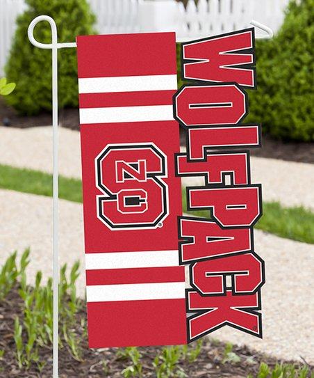Team Spirit Hair North Carolina State Wolfpack Sculpted Garden Flag