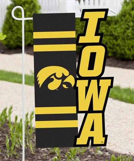 Team Spirit Hair Iowa Hawkeyes Sculpted Garden Flag zulily