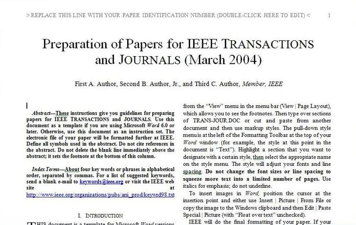 Ieee Research Paper Template Gallery - Template Design Ideas