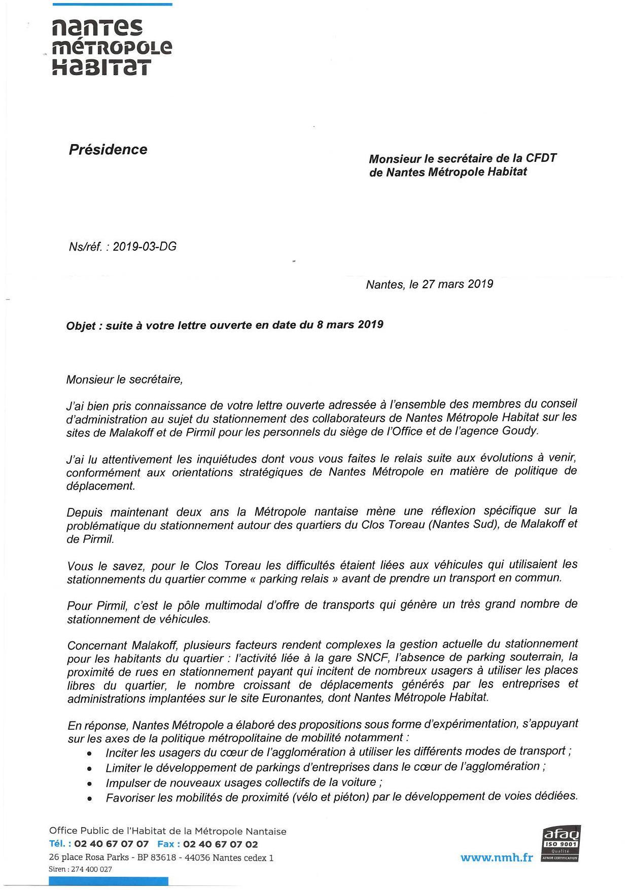 lettre ouverte administrative