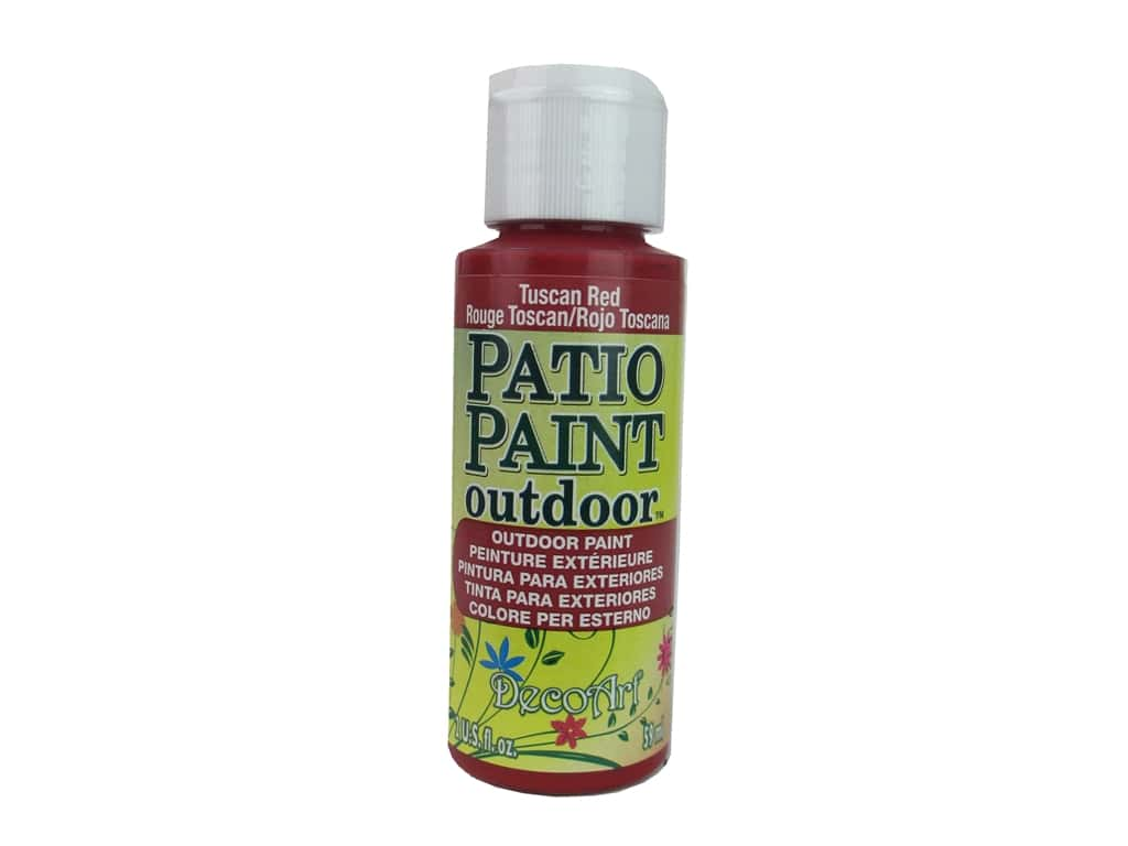Decoart Patio Paint 2 Oz Tuscan Red Createforless