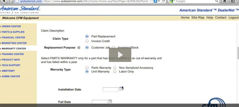 Wholesale Distributors Sacramento How To File As Warranty Claims Online Cfm Equipment