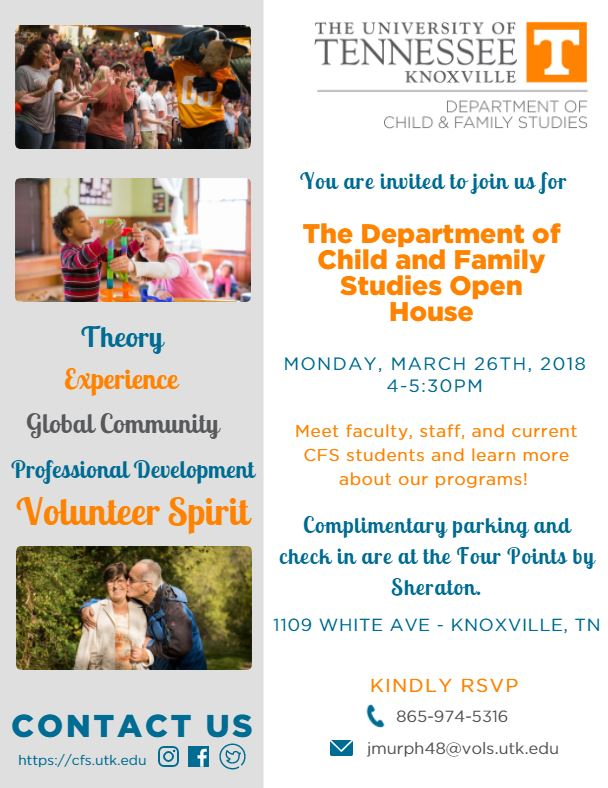 News Child and Family Studies The University of Tennessee, Knoxville