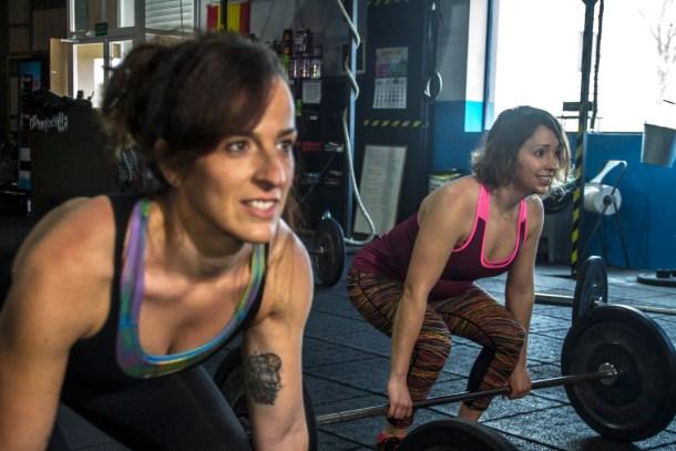 Wod CFS Box Sevilla CrossFit Training Girls Lions Halterofilia