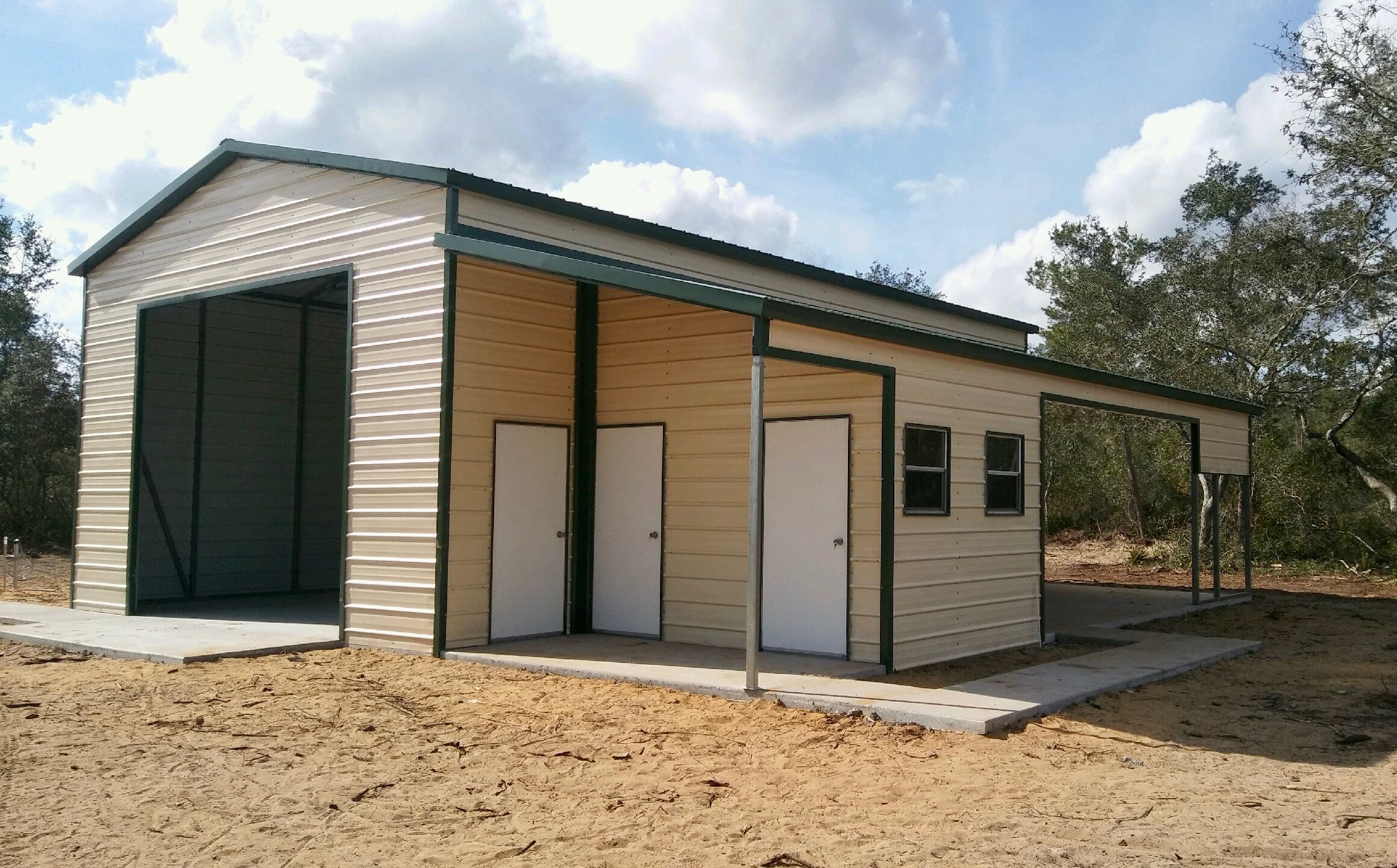 Foto 30x40 30x40 Custom Steel Building Central Florida Steel Buildings And