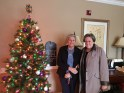 Some of the Christmas elves from Hearthside Towne Lake Senior Living delivered Christmas presents for our Children's Program on 12/22/15. Pictured are Volunteer, Suzanne, and Penny Parks, Social Director of Hearthside Towne Lake