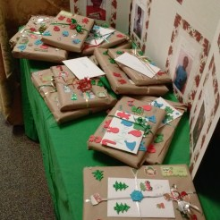 A portion of the gifts the children of CFVC prepared for the Calvary Children's Home