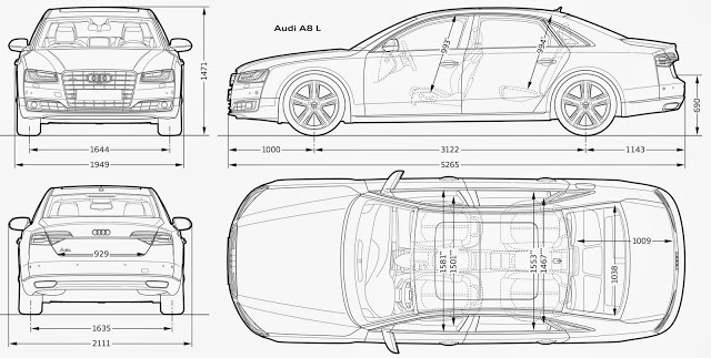 Download Most Loved HD Car Blueprints for 3D Modeling For Free - best of blueprint drawings of audi r8