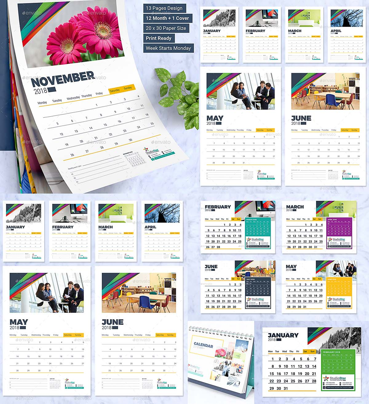 10 Year Calendar Free Month Year Calculator 2018 Calendar Design Template Wall And Desk Free Download
