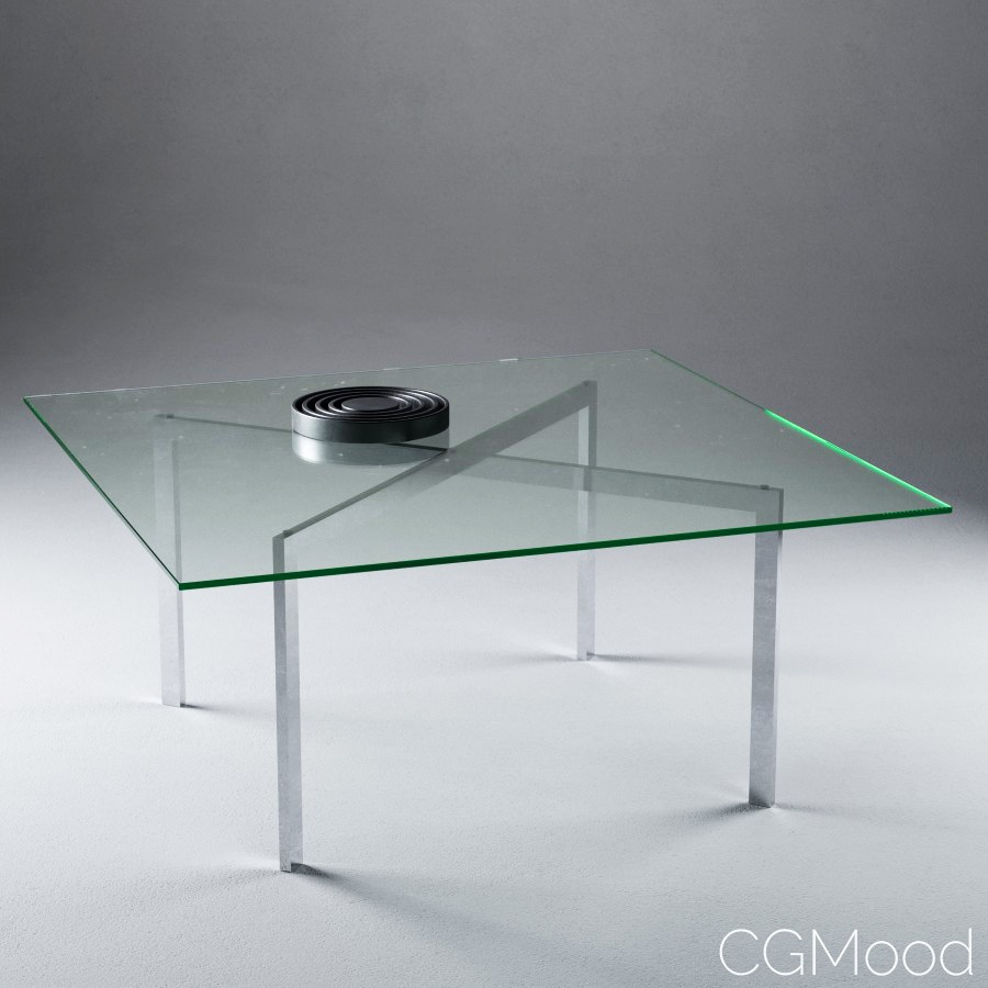 Barcelona Table By Mies Van Der Rohe 3d Model For Corona