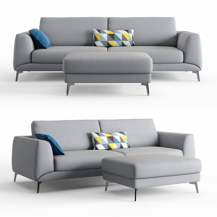 Boconcept Sofa Boconcept Fargo Sofa 3d Model For Vray