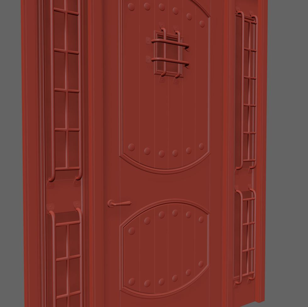 Rustic Interior Doors Set 83 3d Model For Vray Corona