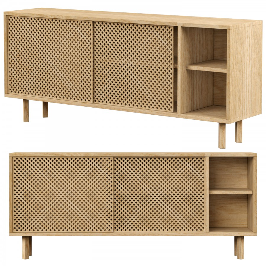 Naanfurniture Sideboard 150 Cm 3d Model For Vray