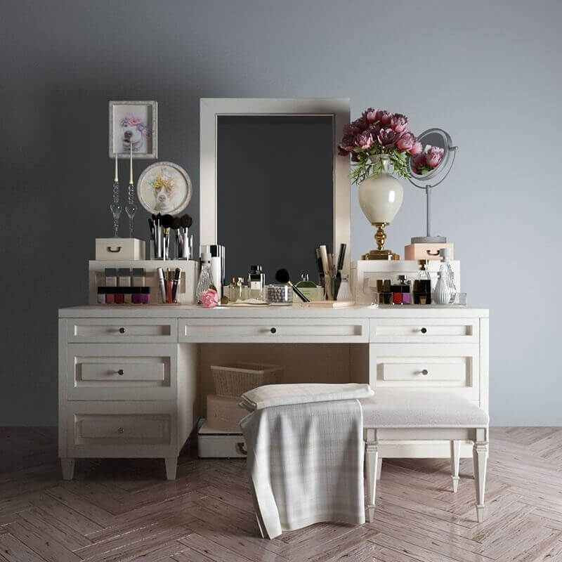 Full Frame Low Light Dressing Table 2 3d Model Download Cgsouq