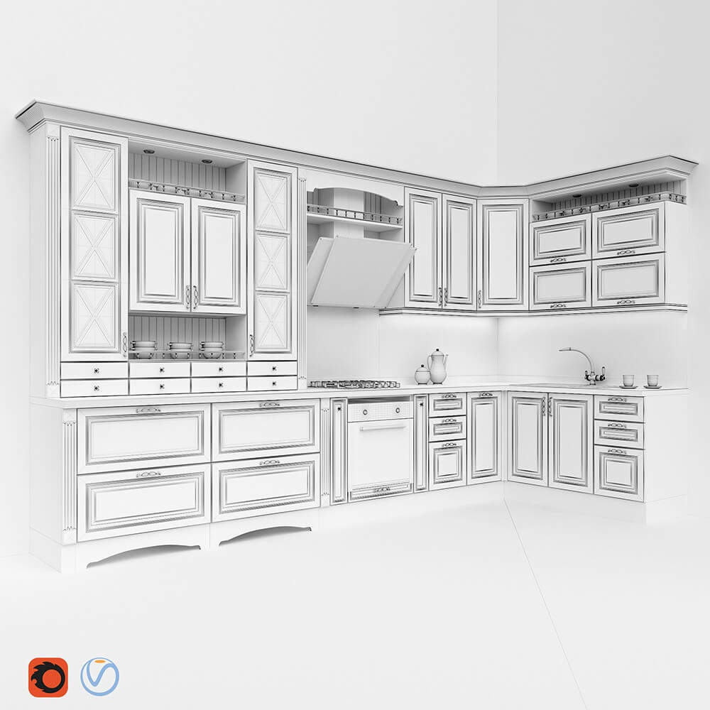 Kitchen Design 3d Model Kitchen Classic 3d Model For Download Cgsouq