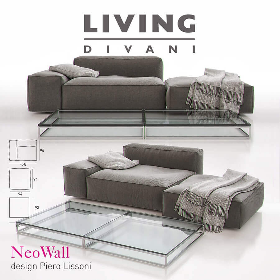 Living Divani Sofa Price Living Divani Neowall Sofa Composition Ii 3d Model
