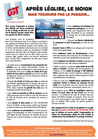 tract arrivée Le Moign