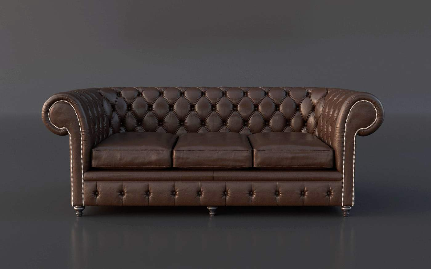Chesterfield Sofa Texture Chesterfield Couch 3d Model Gonzalo Briceno Tugues