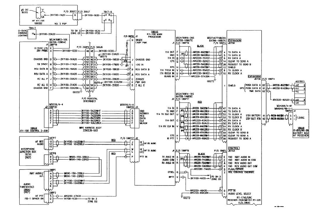 HF LIAISON FACILITY WIRING DIAGRAM (CONTINUED)