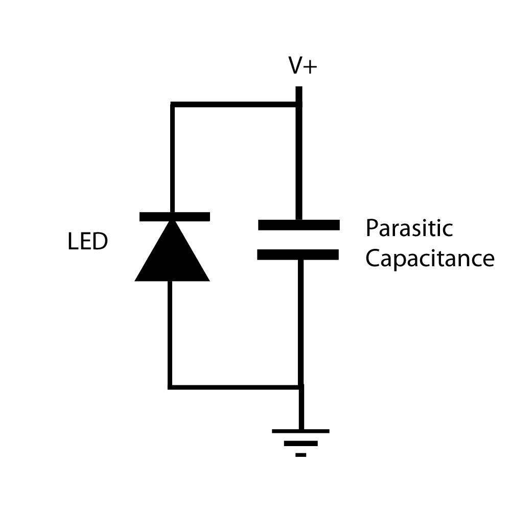 capacitor ledningsdiagram led lighting