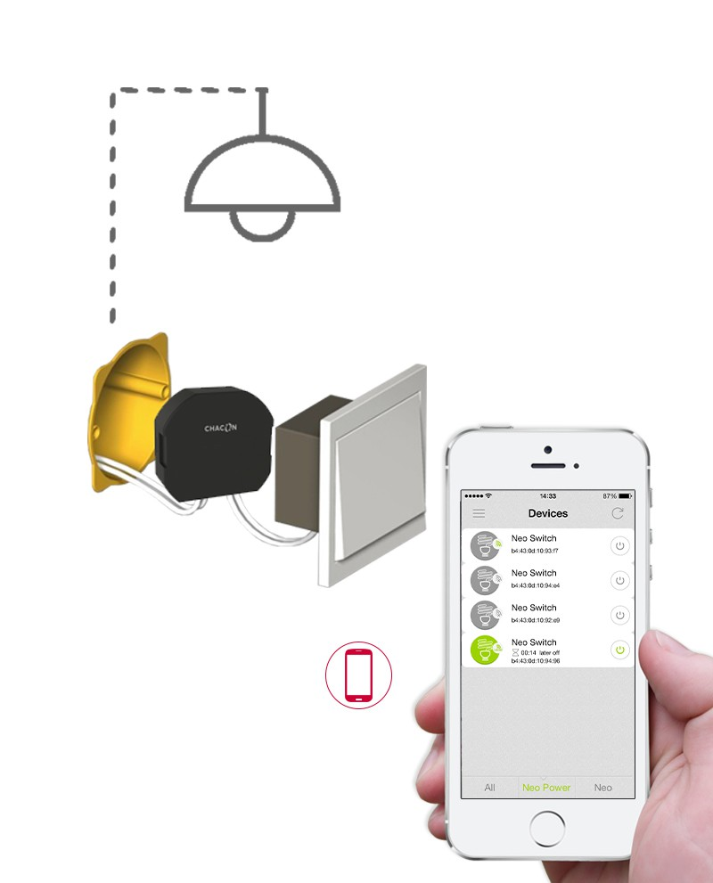 Lampe Exterieur Wifi Chacon Module Intelligent Wifi