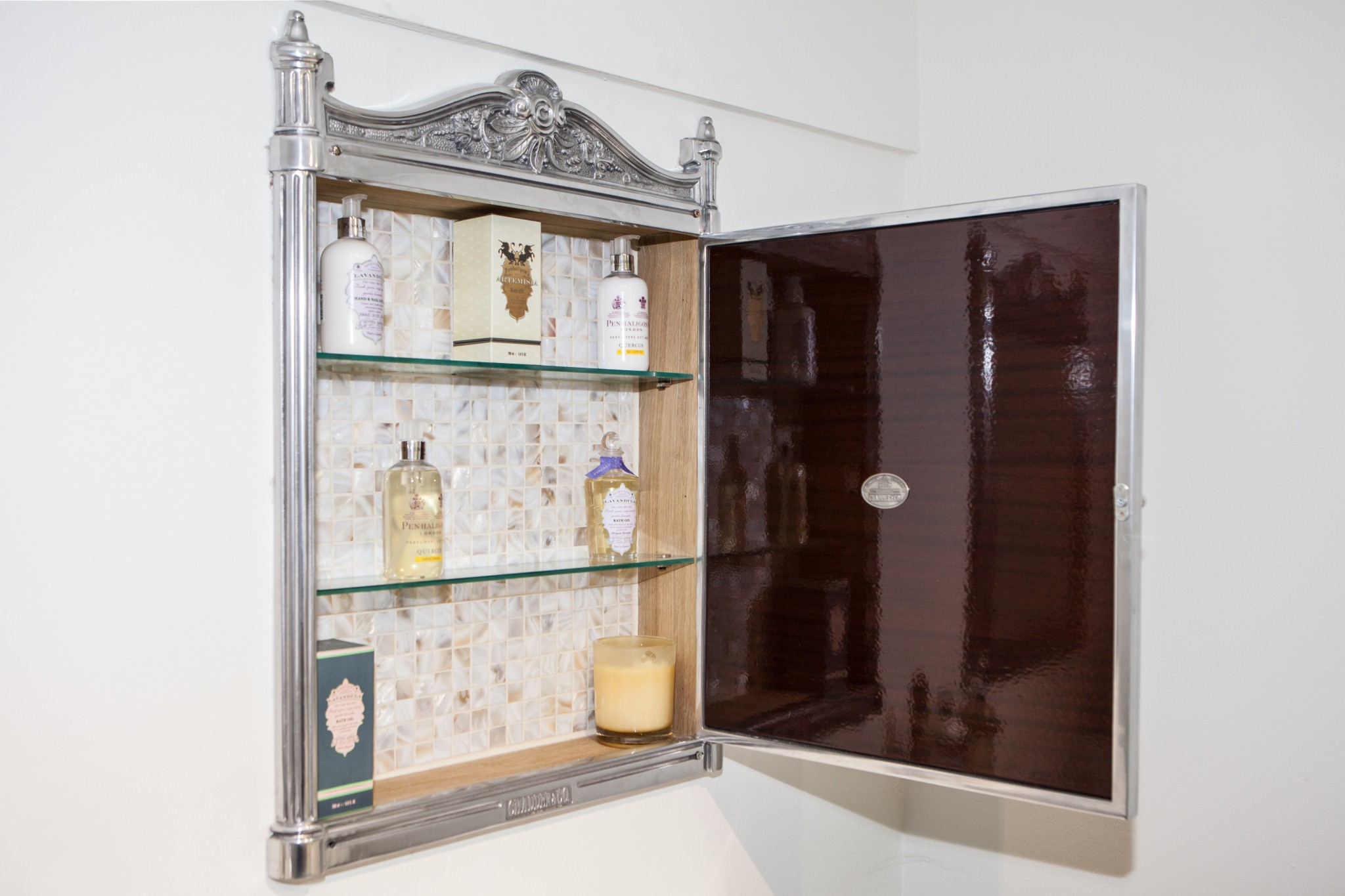 Mirrored Bathroom Cupboard Blenheim In Wall Cabinet Chadder And Co