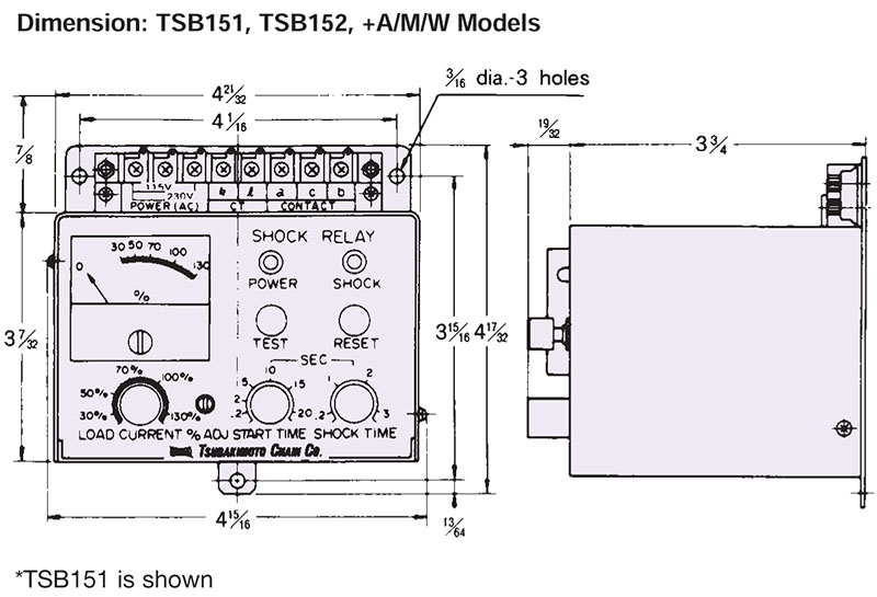 TSB151, TSB152 Shock Relay for Overload Protection On US Tsubaki Inc