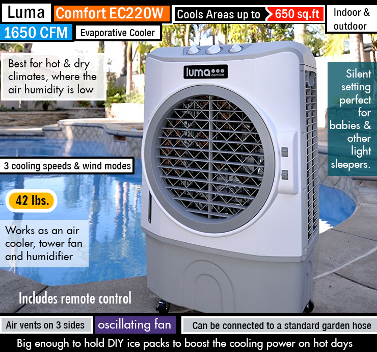 Best Portable Evaporative Cooler Reviews Keep Cool When it\u0027s Hot