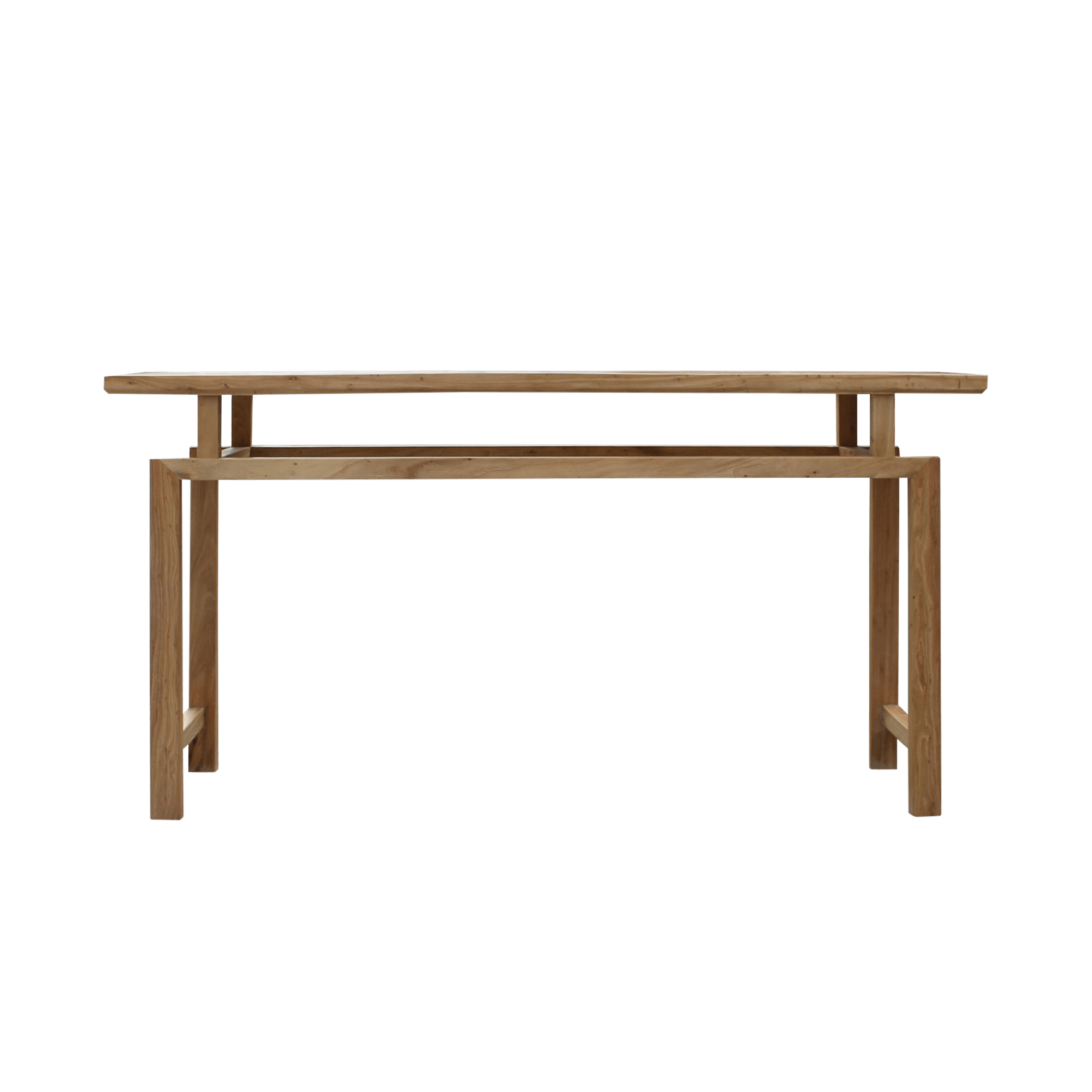 Table Unfinished Wood Oriental Zen Unfinished Wood Slim Open Side Table