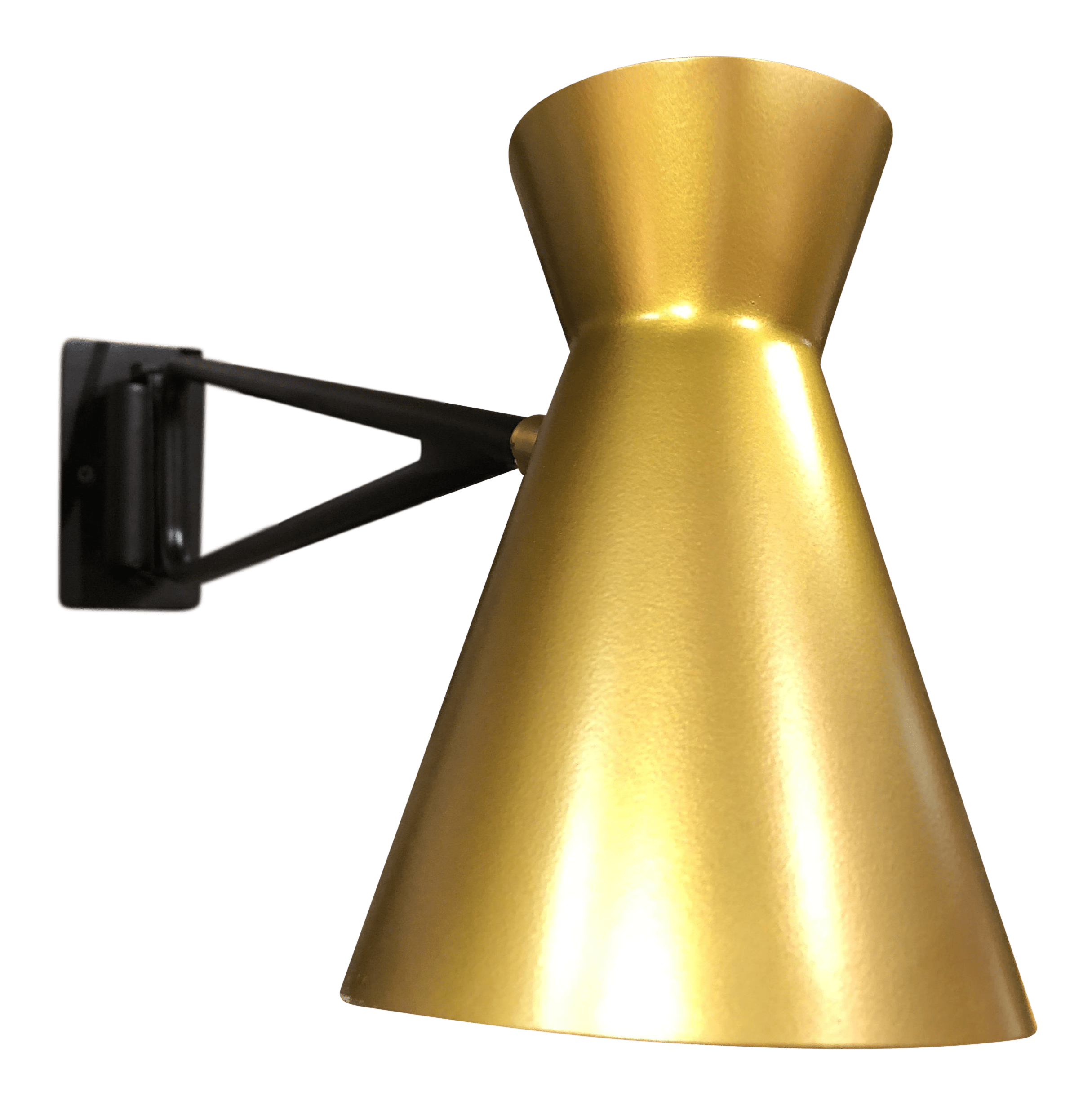 Mid Century Swing Arm Wall Lamp Black And Gold Mid Century Modern Style Swing Arm Wall