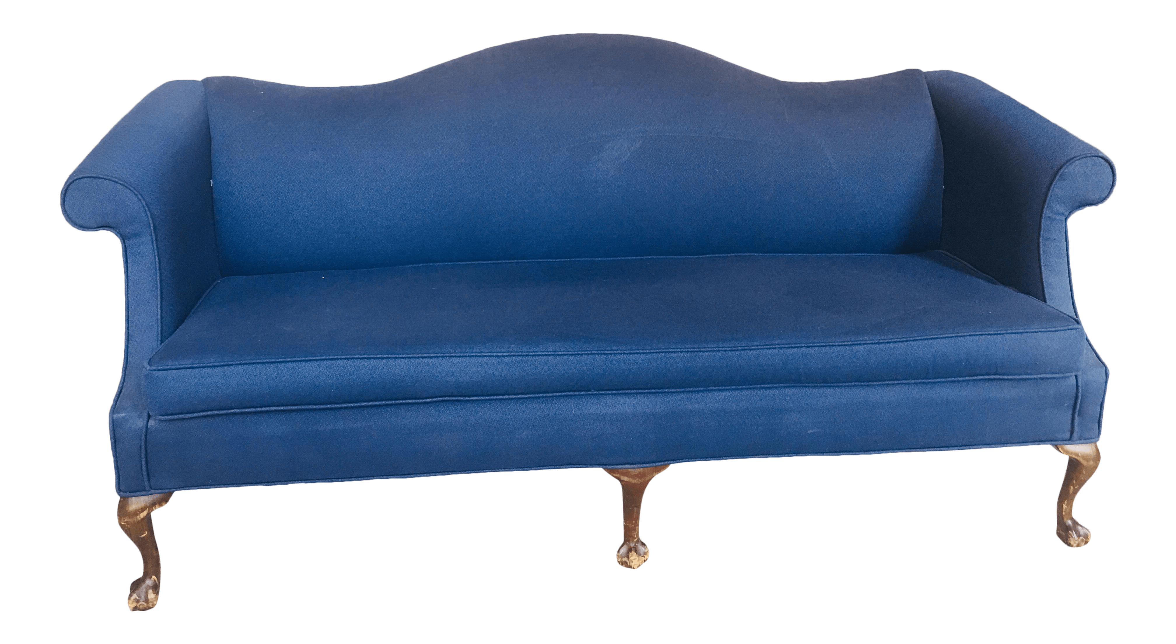 Sofa Queen Anne Style Queen Anne Style Camelback Sofa Chairish