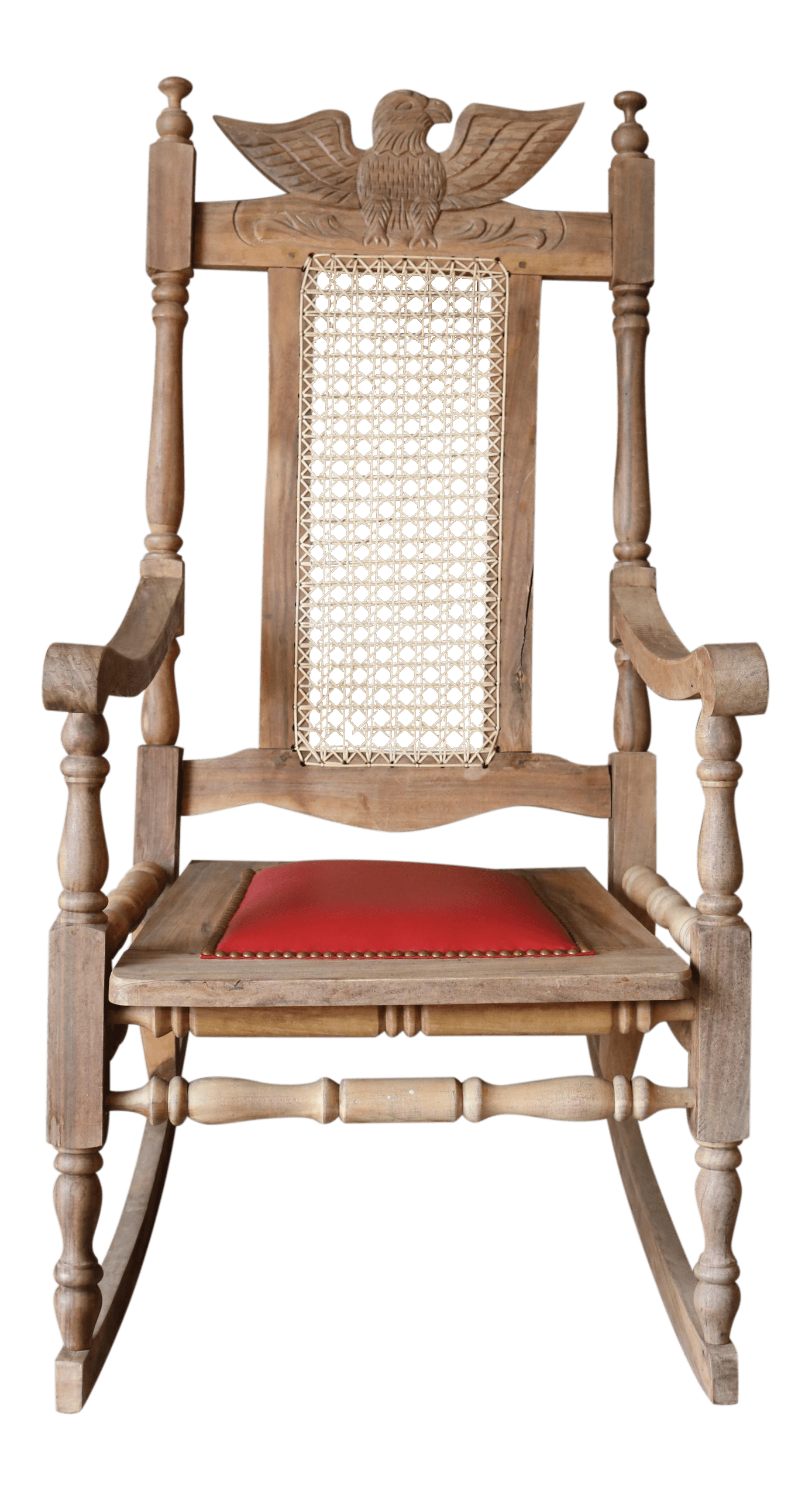Wood Rocking Chair Vintage Carved Eagle Wood Rocking Chair