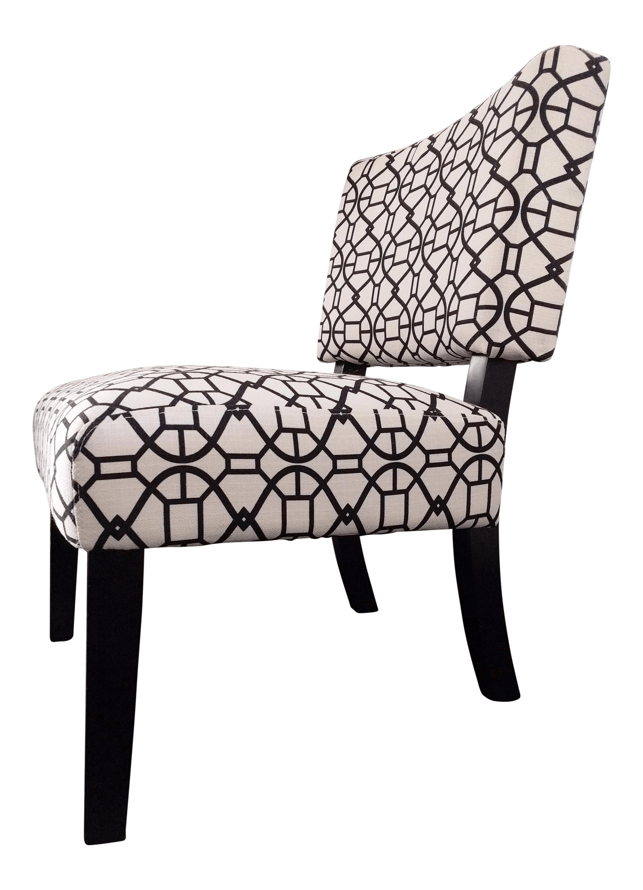 Black And White Accent Chair Modern Graphic Print Black White Accent Chair