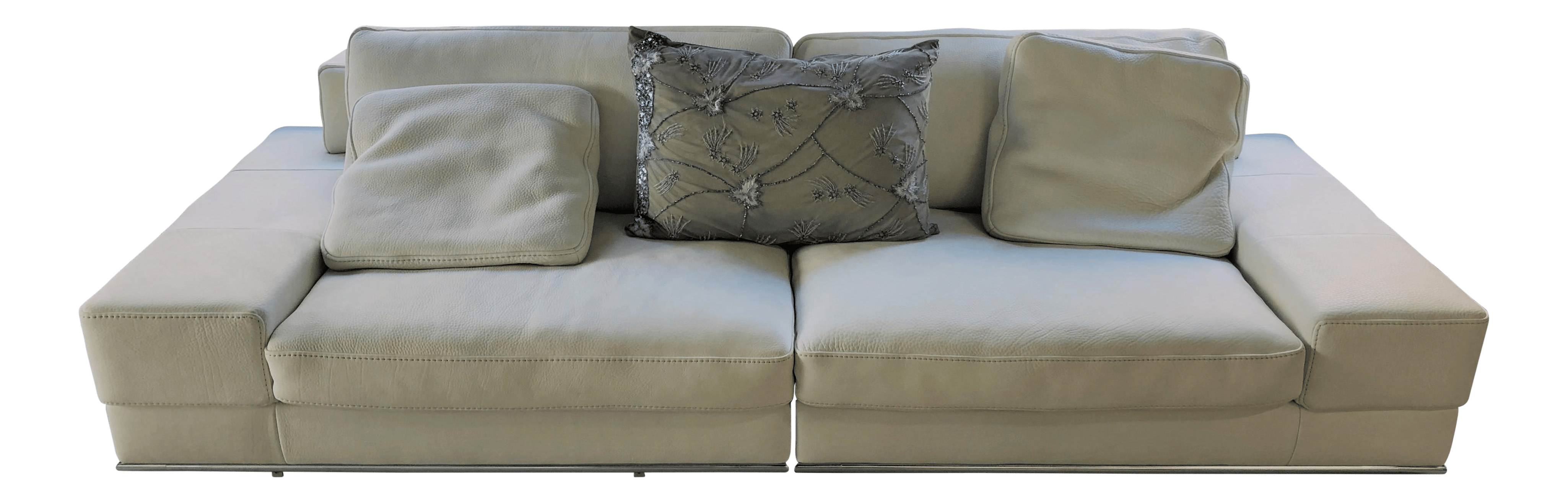 Divani Incanto Group Incanto Italian White Leather Sofa