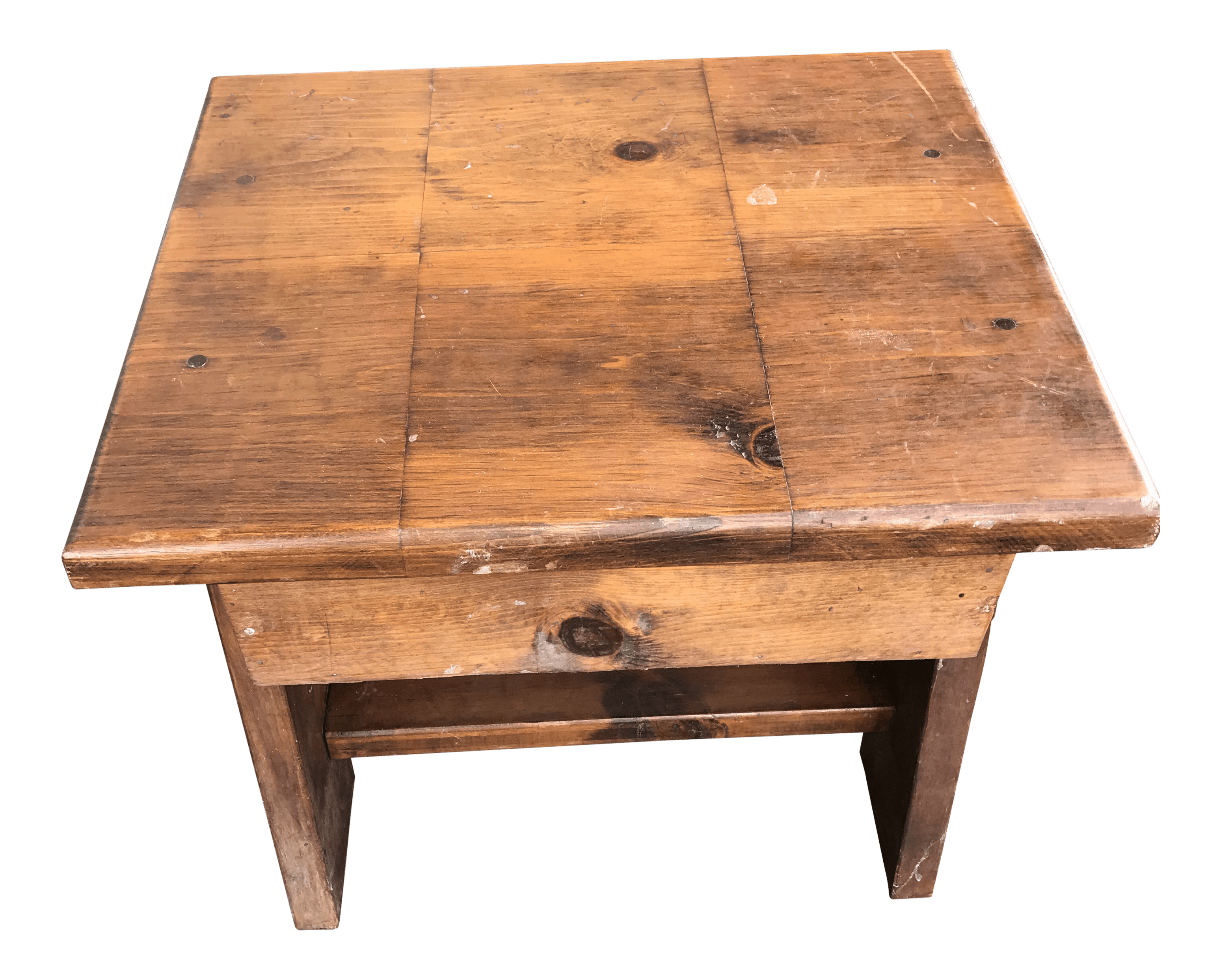 Rustic Wood End Table Rustic Solid Wood End Table