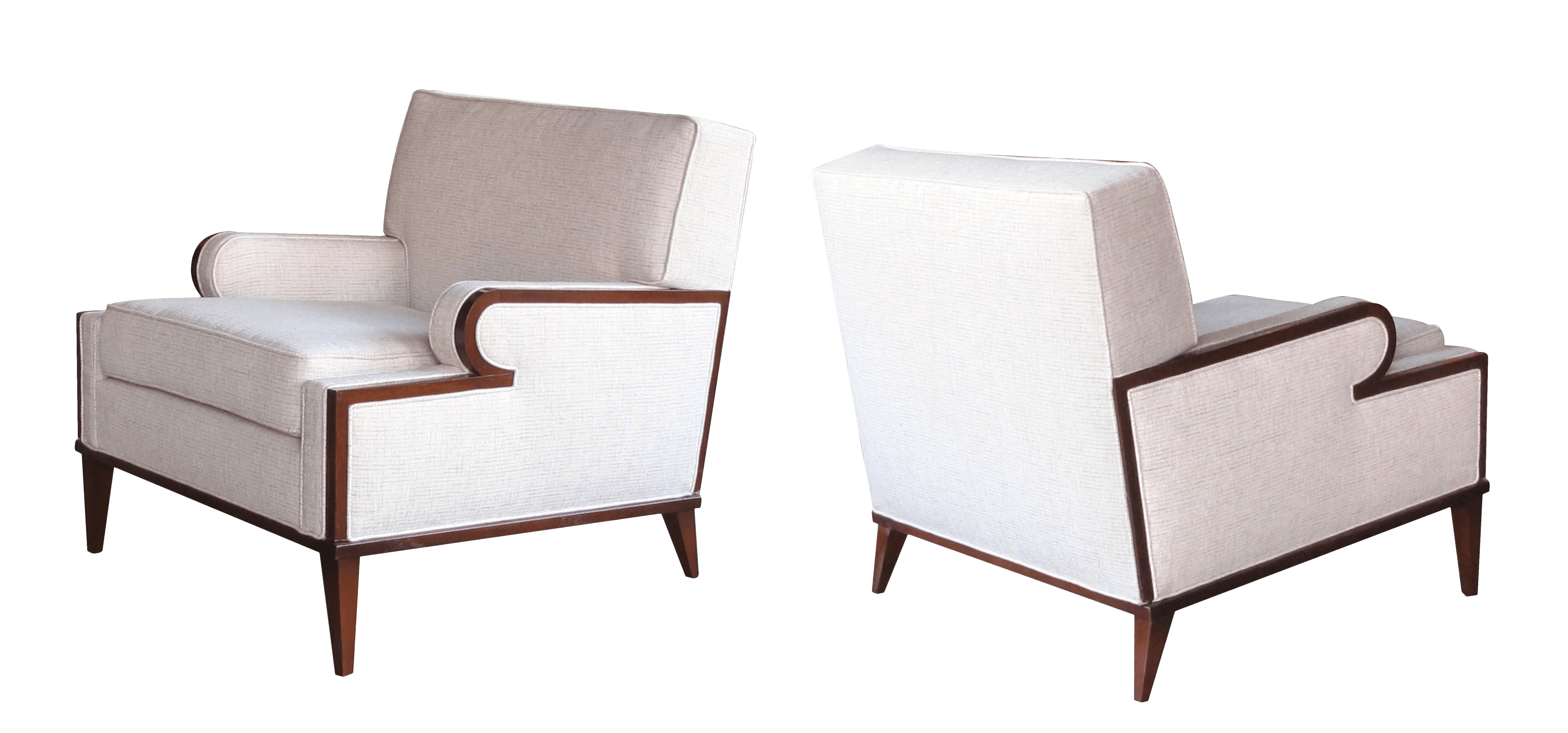 Chairs Comfortable A Stylish And Comfortable Pair Of American 1960 S Upholstered Club Chairs