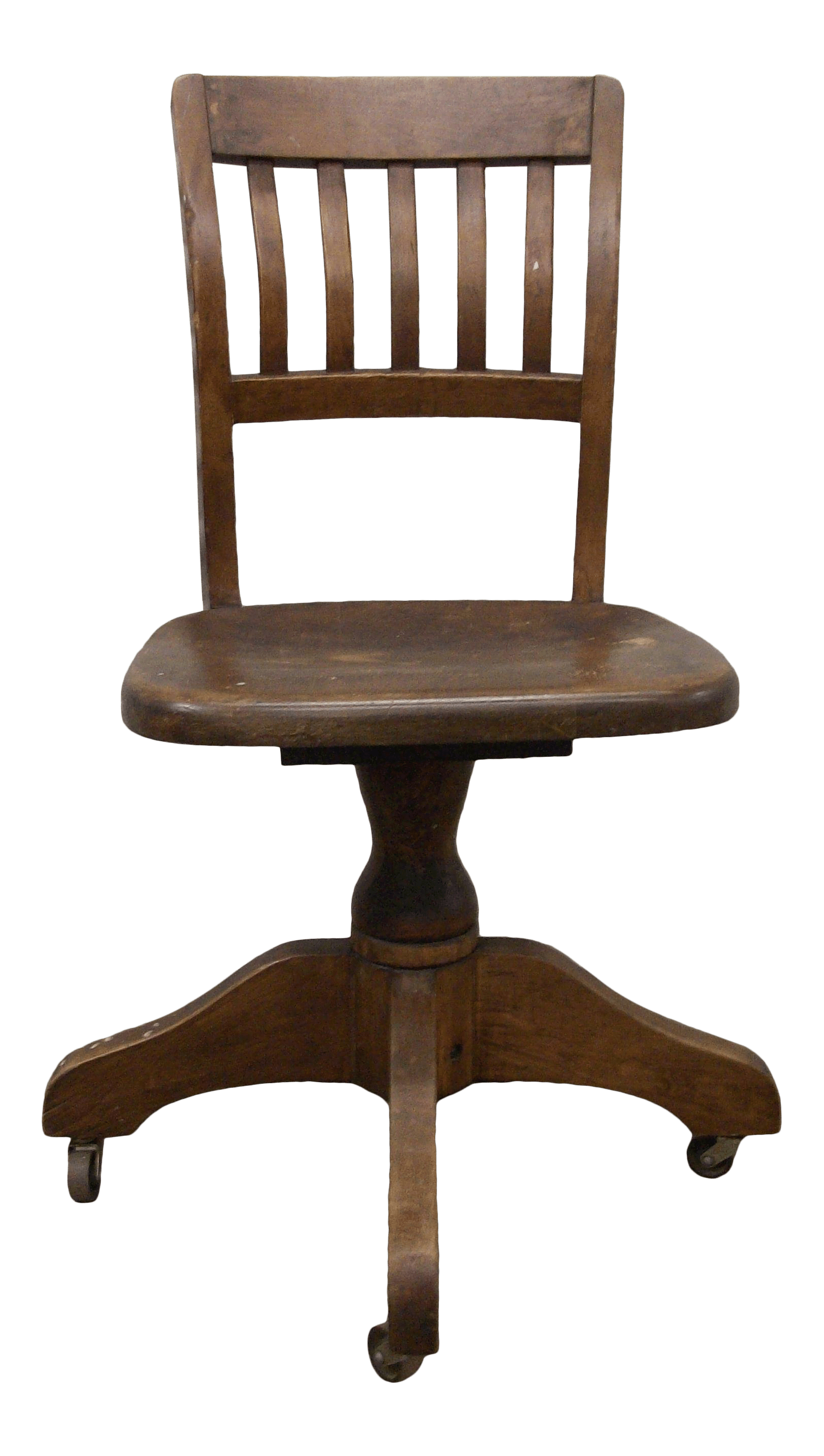 Cute Swivel Chair 1940s Antique Wood Task Office Swivel Chair