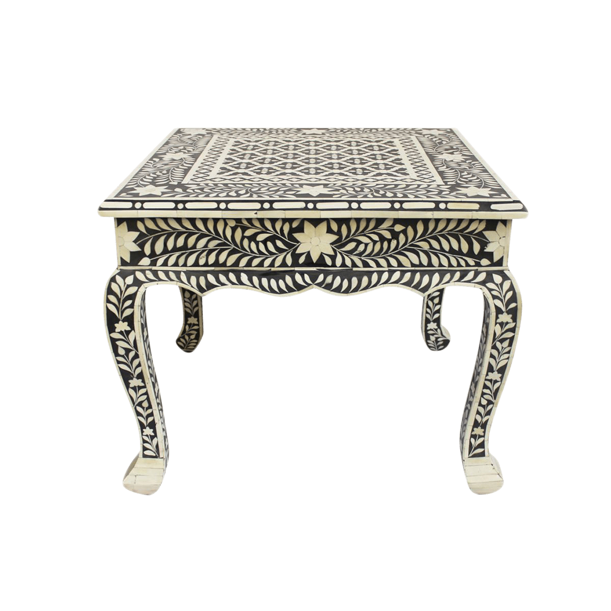 Coffee And Side Tables Bone Inlay Coffee Table Side Table
