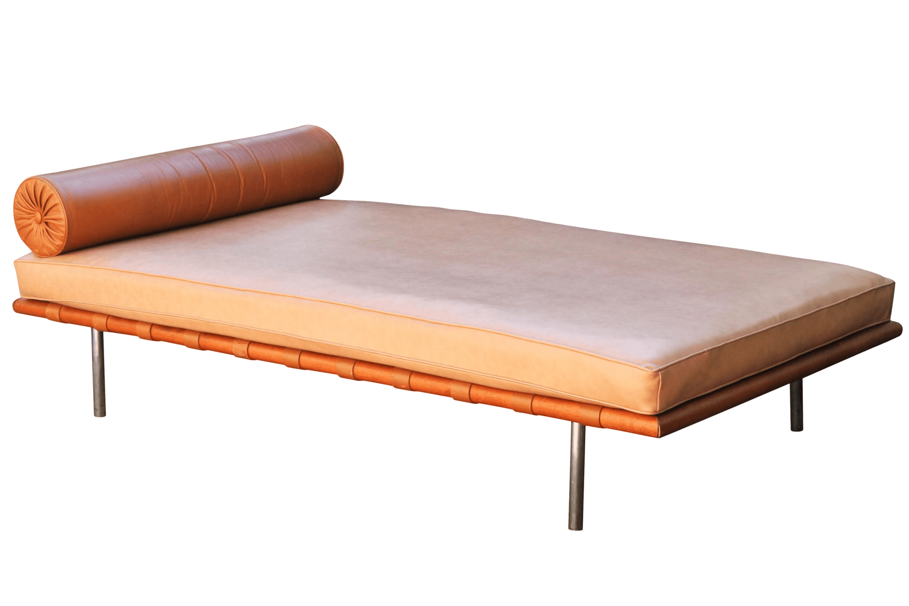 Barcelona Daybed Mies Van Der Rohe Attributed Barcelona Daybed In Brown Leather