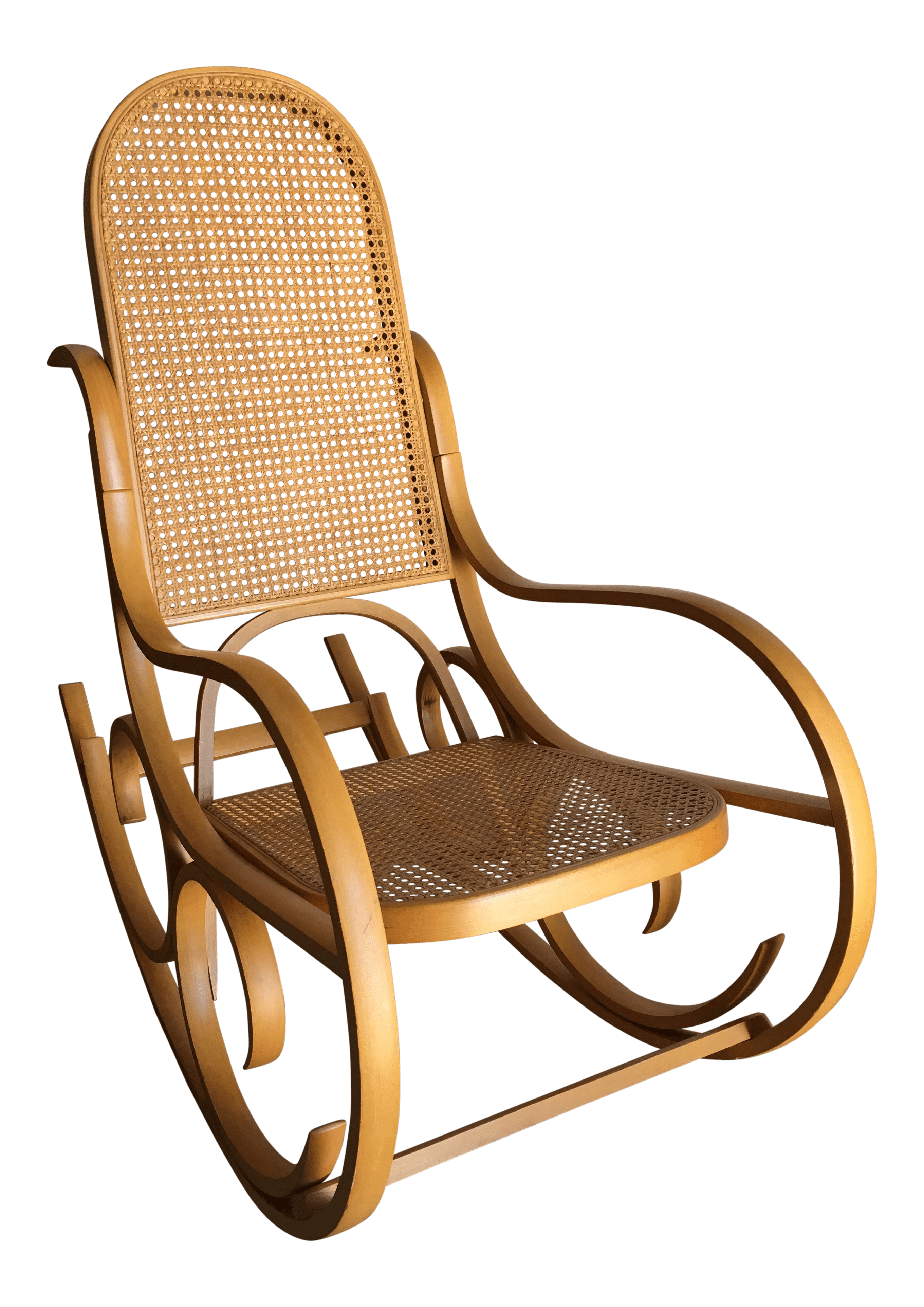 Thonet Michael Vintage Luigi Crassevig Bentwood Rocking Chair In The Style Of Michael Thonet