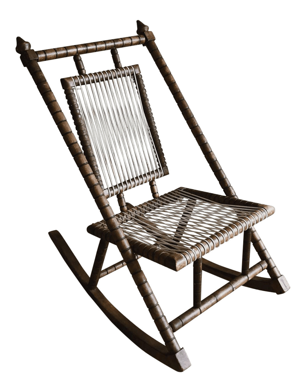 Mexican Rocking Chair 1980s Vintage Mexican Craftsman Wooden Rocker